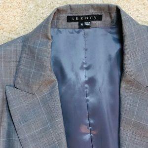 Theory suit jacket blazer grey EUC! Women's sz 10